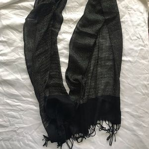 Metallic gold and black scarf